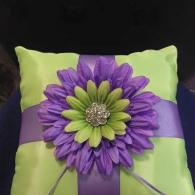 Purple and green pillow